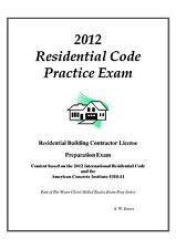 2012 International Residential Code Practice Exam on USB Flash Drive