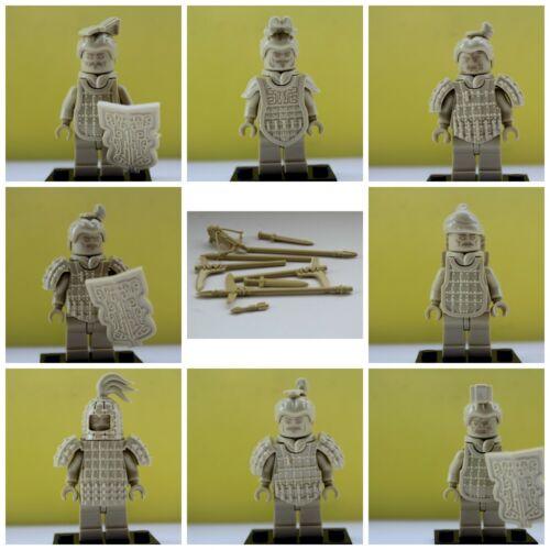 Samurai Ninja Warriors soldats terre cuite Army toy model 8 Action MINI FIGURES