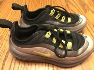 Kids-Nike-Air-Max-Axis-Sneaker-Size-11-C-AH5223-012-Grey-Black-Green