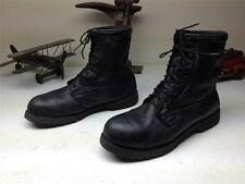 VINTAGE BLACK LEATHER STEEL TOR LACE UP MILITARY COMBAT ARMY USA BIKER BOOT 12 R