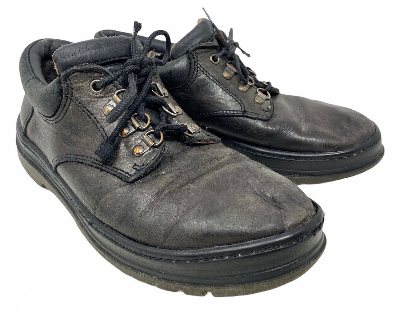 Timberland Dark Brown Genuine Leather Hike Walking Outdoors Lace Shoes (9 UK)