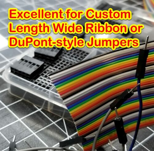 2m 6.56ft 40 Way 40 Pin Flat Color Rainbow Ribbon IDC Cable Wire Rainbow Cable