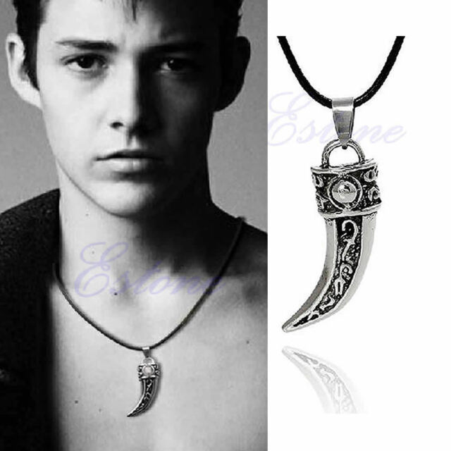 New Stainless Steel Applied Men Retro Titanium Wolf Tooth Pendant Necklace Gift