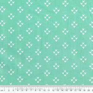 Ornament-Rauten-mint-0-50-m-STOFF-Baumwolle-Patchwork-Basteln-Deko