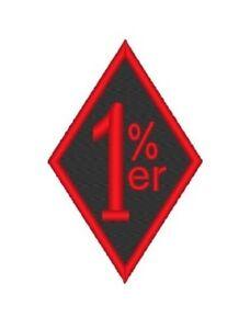 EMBROIDERED PATCH 1/% 1er/% BIKE SCOOTER HELMET HARLEY VEST JACKET DAVISDSON skull