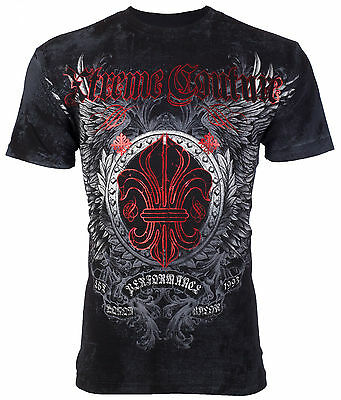 Xtreme Couture AFFLICTION Mens T-Shirt ROYAL FAMILY Tattoo Biker MMA UFC $40