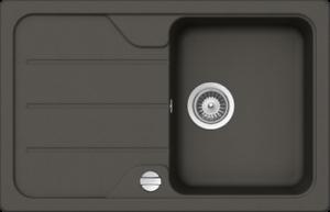 Cristalite+ Unterschrank SCHOCK Unterbauspüle FORMHAUS D-100S-U Farbe Asphalt