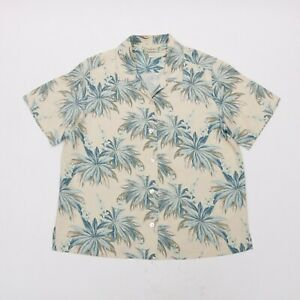 TOMMY-BAHAMA-FLORAL-HAWAIIAN-SHIRT-MEN-039-S-SIZE-M-100-SILK-WHITE