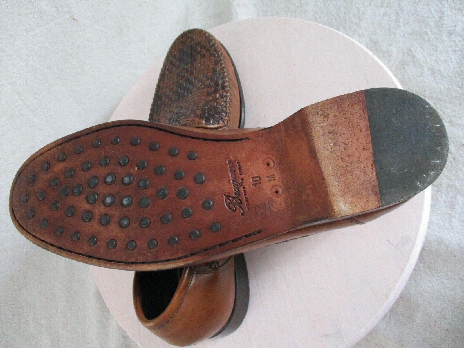 Bragano authentic rare brown black woven leather … - image 5