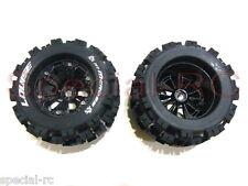 """Louise RC 1/8 MT Mcross 3.8"""" tires w/ 17mm hex 1/2 Offset wheels 2pcs #L-T3276BH"""