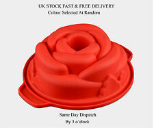 Rose Flower Pattern Cake  Mold Flan Silicone Baking Mould Tin Bakeware Non Stick