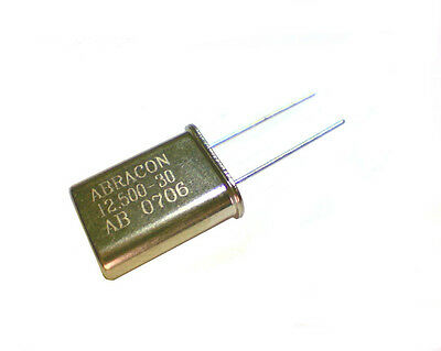 Lot of 5 Abracon Crystals 12.500Mhz AB-12.500-30