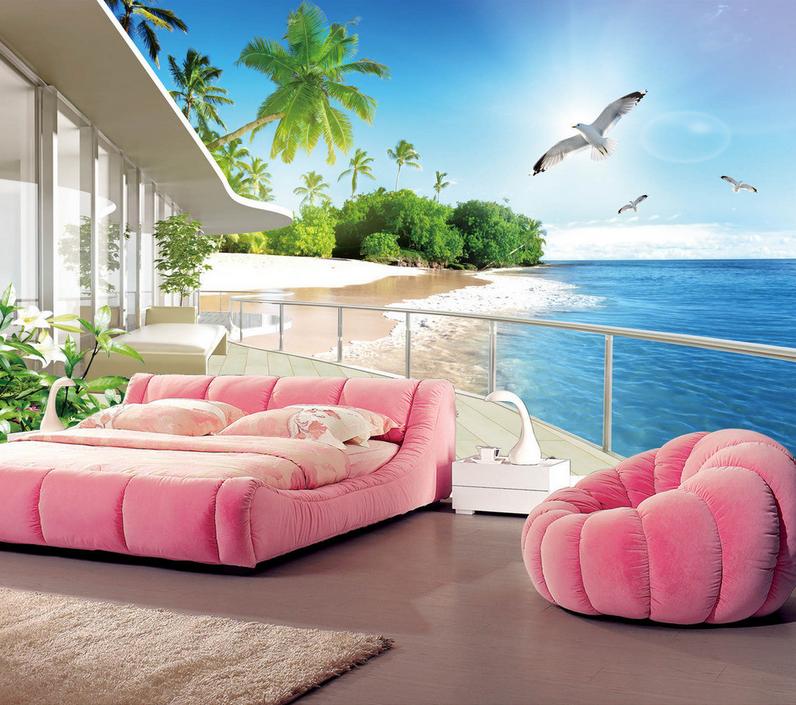 3D Seagull Strand Balkon 864 Tapete Wandgemälde Tapete Tapeten Tapeten Tapeten Bild Familie DE  | Niedrige Kosten  | Hohe Qualität  | Angemessene Lieferung und pünktliche Lieferung  e8cfd3