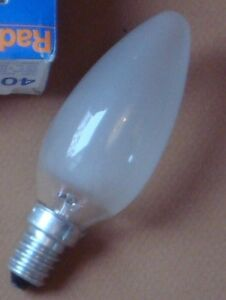 Ampoule-Flamme-EDISON-E14-60W-depolie-PHILIPS-GIRARD-SUDRON-CROZE-NEUVE