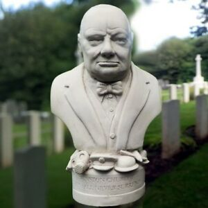 Sir Winstone Churchill Plaster Sculpture Statue Figurine Handmade in UK