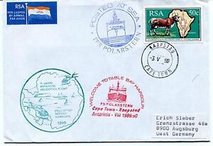 1990 Polarstern Totable Bay Cape Town Helicopter Antarktis Viii Polar Cover Apparence Brillante Et Translucide