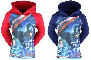 Capatin-America-Hoodie-Boys-Brand-New-Official-Licensed