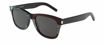 Affidabile Saint Laurent Sl 51 50 039 Sunglasses Black Grey Occhiale Sole