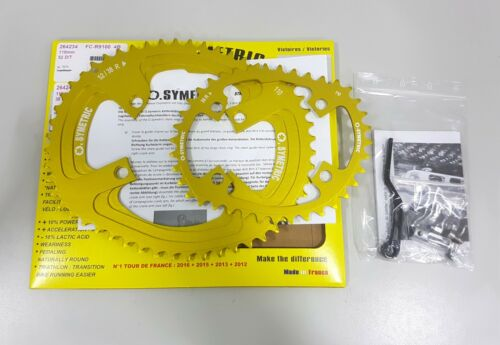 Osymetric BCD110x4 52+38T 9100//9150//8000//8020//8050 Edition Chainring Set Yellow