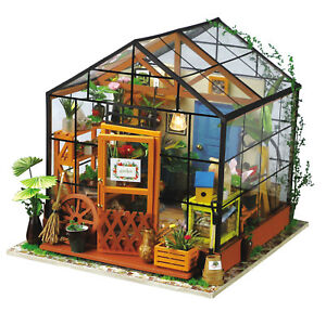 Genuine-Robotime-Kathy-s-Flower-House-DIY-Dollhouse-3D-wooden-model-kit-AUS
