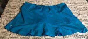 Gorgeous-Bolle-Tennis-Skort-Skirt-Shorts-Aqua-Blue-Sz-XL-MUST-SEE-TubM