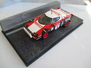 LANCIA STRATOS model and diorama Sanremo Rally 1978 M.Alen / I.Kivimaki