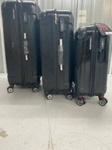 BLUE-STAR-travel-case-Suitcase-Hard-Shell-Carry-Cabin-BagHand-Luggage-3-SET-GRAY