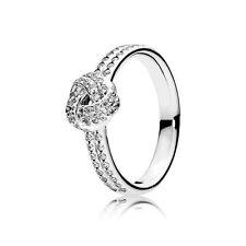 Pandora NUOVO ORIGINALE argento scintillante Love Knot Ring Taglia 58 190997 CZ