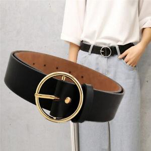 Mode-femme-ceinture-cuir-boucle-ronde-ceinture-taille
