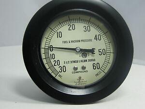 "Pressure Gauge H2014 3 1/2"" 30-60 PSI 1/4"" LBM"