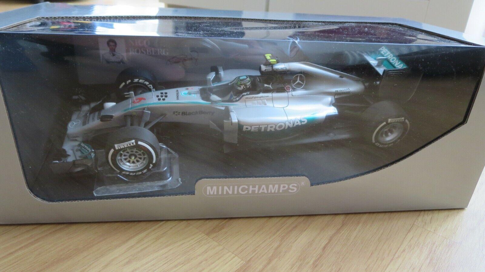 MINICHAMPS 1 18 MERCEDES AMG PETRONAS F1 TEAM ROSBERG WINNER GP AUSTRALIE 2014 N