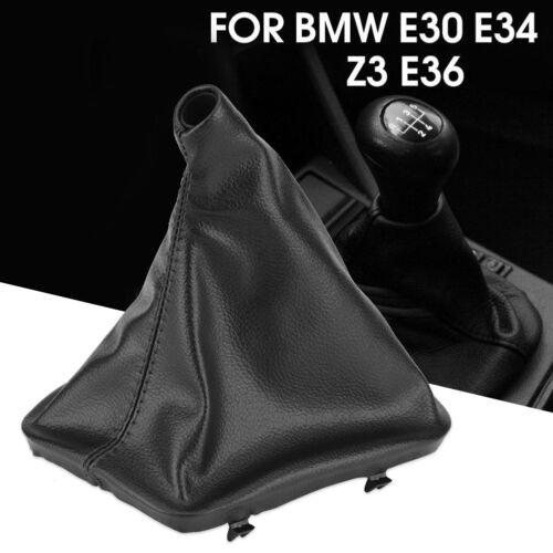 Car Gear Shifter Shift Knob Gaiter Boot Cover Fit to BMW E46 E36 E34 E30 Z3