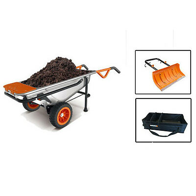 (1) Free WORX item with Purchase of WG050 AeroCart 8-in-1 Wheelbarrow Yard Cart