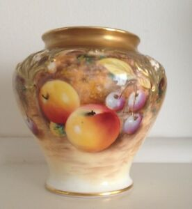 Royal-Worcester-Hand-Painted-Pot-Pourri-Vase-Signed