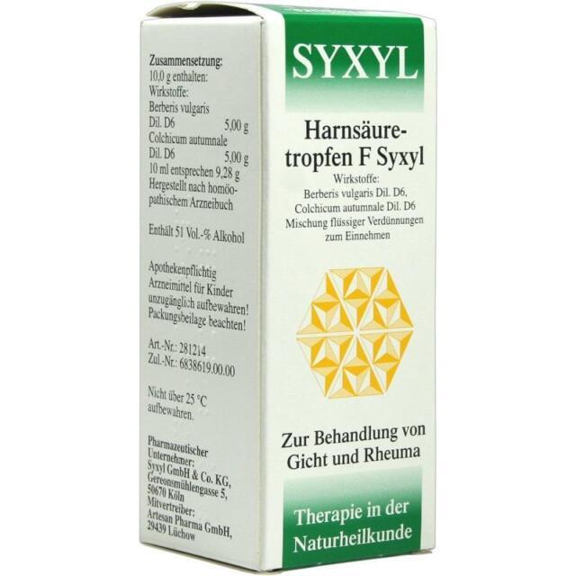 HARNSAEURETROPFEN F Syxyl Loesung   100 ml   PZN254321
