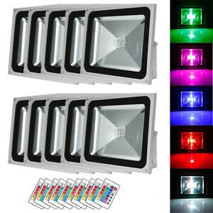 10X-50W-RGB-LED-IP65-Flood-Landscape-Lamp-Outdoor-Spot-Light-amp-Remote-Controller