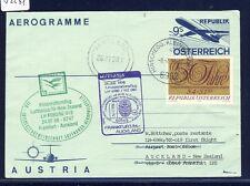 52291) LH FF Frankfurt - Auckland 24.7.98, GA Aerogramm ab Österreich Enklave