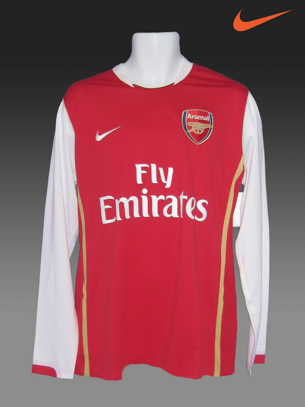 Nike Arsenal Fútbol Del Club Player Tema Cl Camisa 2006-08 Long Manga Grado a XL