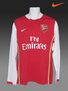 d91ef709f NIKE ARSENAL FootballL Club Player Issue EPL Shirt 2006 - 08 Long ...
