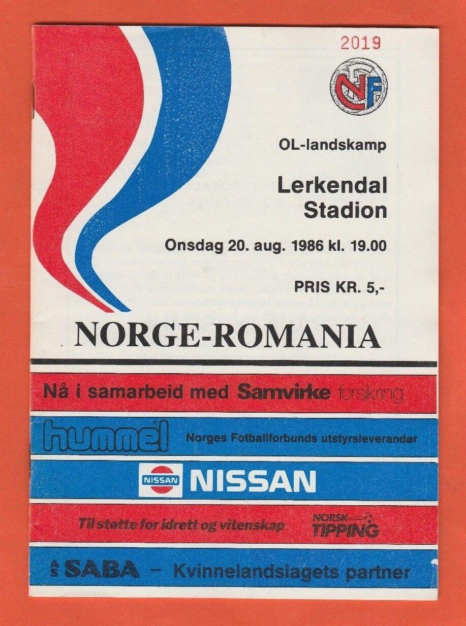 Orig.PRG    20.08.1986   NORWEGEN - RUMÄNIEN      EXTREM SELTEN