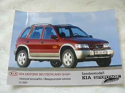 Presse Foto Press Photo 01.2001 Weich Und Rutschhemmend Ausdauernd K0002 Sondermodell Classic Kia Sportage