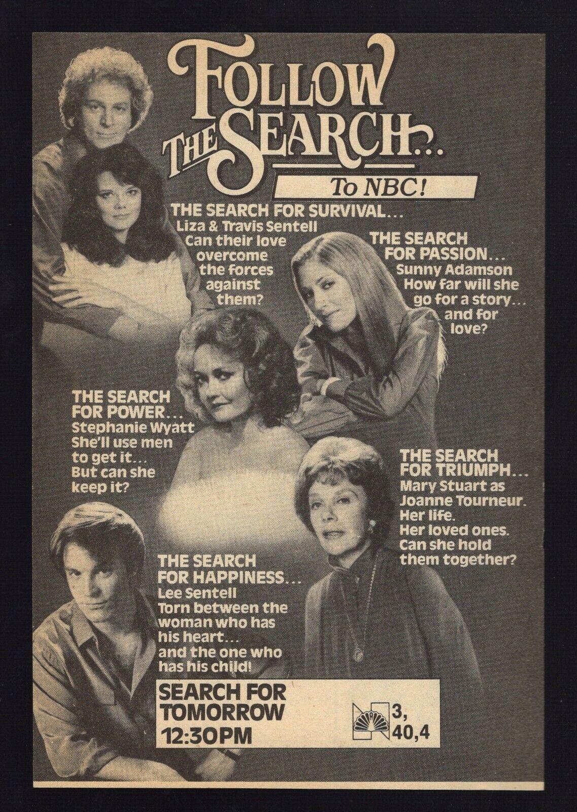 Image 1 - 1982 TV AD~SEARCH FOR TOMORROW SOAP OPERA  Passion Survival Power Triumph