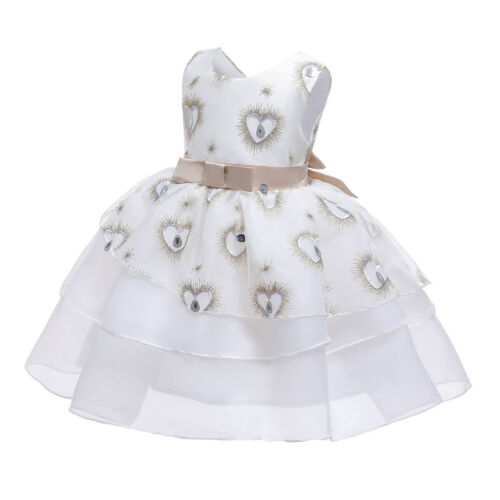 Flower Girls Kids Evening Party Tulle Tutu Dress Bridesmaid Pageant Ball Gown