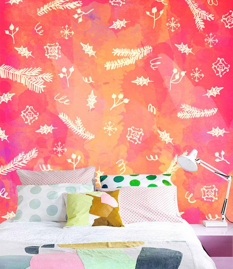 3D Falling Snow Leaves 7 Wallpaper Mural Paper Wall Print Wallpaper Murals Lemon