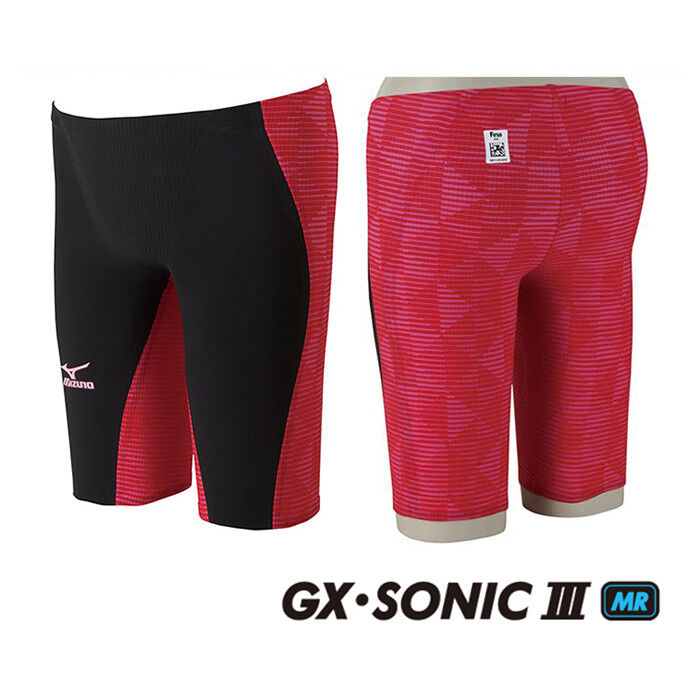 NEW MIZUNO Swimsuit Swimwear Men GX-SONIC III MR FINA N2MB6002 Red Japan F S