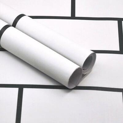 White Brick Contact Paper Wallpaper Peel And Stick Wall Paper Self Adhesive Film Ebay
