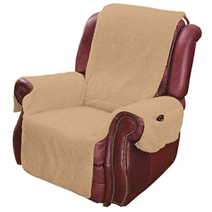 Armchair Recliner Cover Pockets Arm Rest Fleece Lazy Boy ...