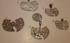 WU TANG STERLING SILVER PENDANT .925 CREAM 14k PEARL DIAMOND GOOD WOOD WEAR RING