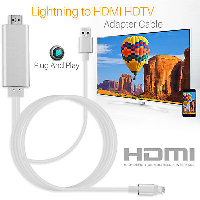 GemäßIgt Apple Lightning Connect To Hdmi Tv Av Cable Adapter For Iphone 8 7 6 Ipad Mini Dauerhafter Service