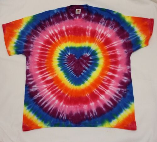 Tie Dye Mens T-Shirt LGBT Gay Pride Parade Party Flag Gift Heart Present RAINBOW